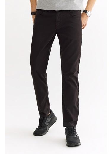 Avva Erkek  5 Cepli Armürlü Slim Fit Pantolon A01S3072 Siyah